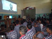 STUDENTS  WATCHING KARGIL TRIBUTE VIDEO SONG RELEASED ON YOUTUBE ( 26/07/2019)